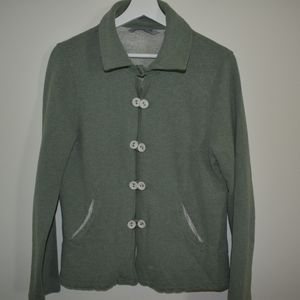 Horny Toad green and gray cotton jacket size large